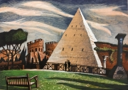 Piramide di Caio Cestio, Rome (Paper, markers, color pencil, white; 30х41, 2019)